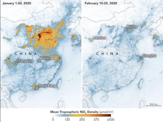 pollution chine coronavirus